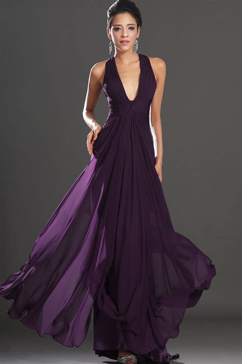 Evening Dresses by Edressit 2013 New Adorable Halter Purple Evening