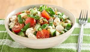 Kitchen Island Montreal Tomato Cucumber And Bocconcini Grain Salad In The