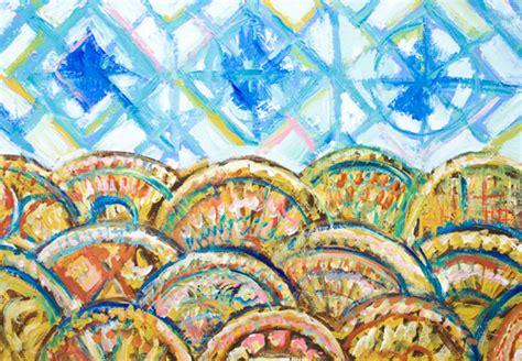 quot geometric three blue suns and sea waves quot new geometric abstract seascape kazuya akimoto art blog0