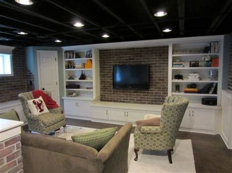 black ceiling in basement for my future home pinterest