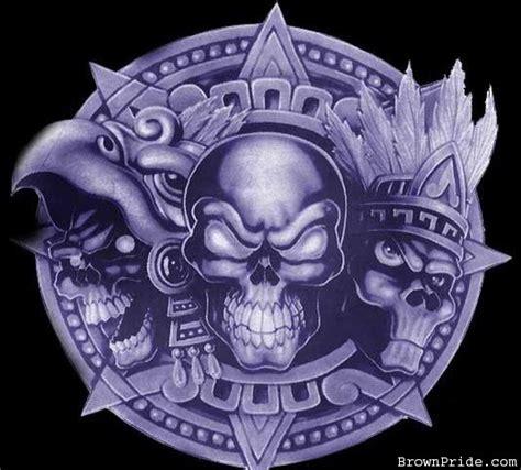 imagenes calaveras aztecas aztec skulls azteca calacas chicano aztec gangsta