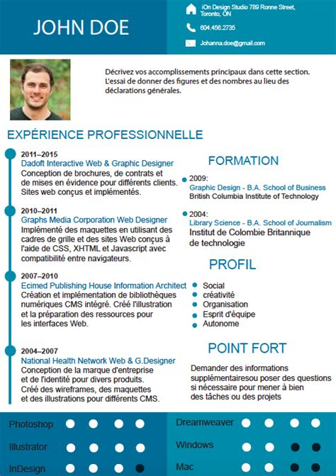 Exemple Gratuit Cv by Exemple De Cv Moderne Gratuit Adaptable Et Au Format Word