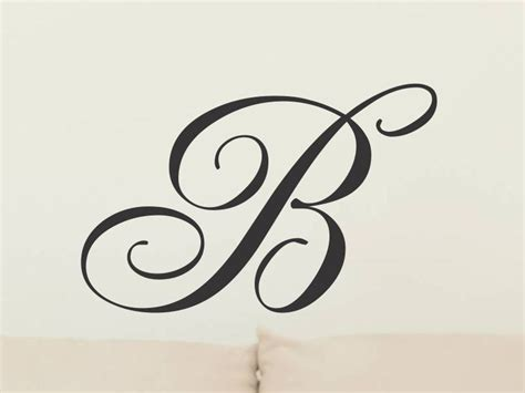 initial letter wall decor monogram wall decal single letter wall decor initial wall