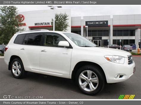 2009 Toyota Highlander Limited Blizzard White Pearl 2009 Toyota Highlander Limited 4wd