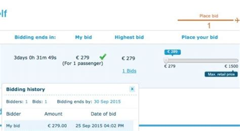 bid for flight tickets bidding for an upgrade to klm world business class