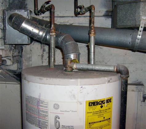 water heater exhaust vent installation gas water heater vent pipe hood installation