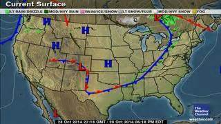 classic surface weather map