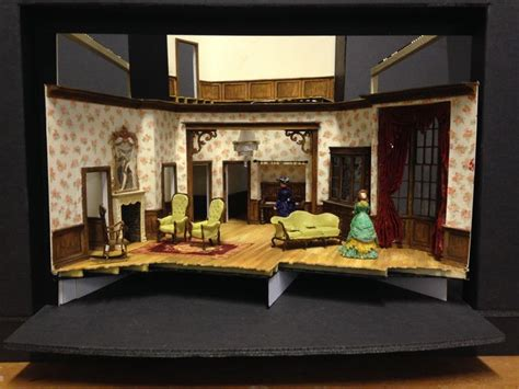 a doll house setting 1 25 model for henrik ibsen s a doll s house based on the playhouse