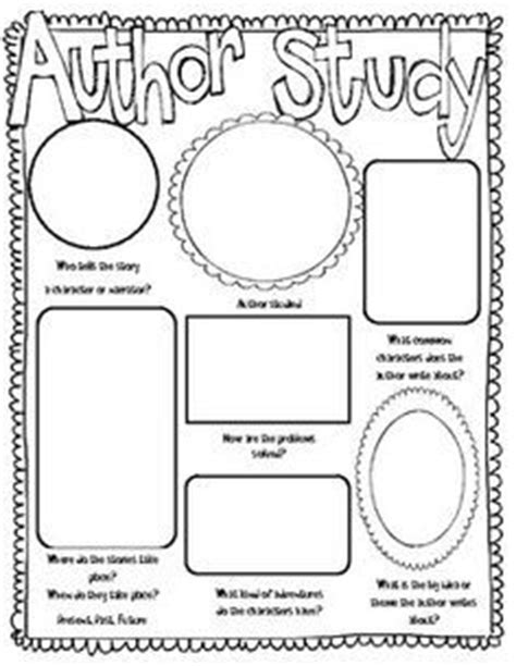 Author Study Worksheet by 1000 Images About Author Study On Author