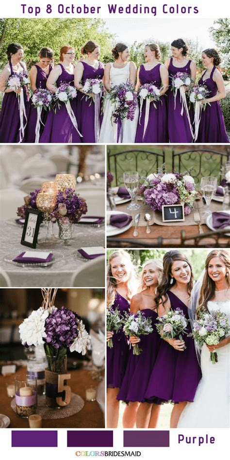 october wedding colors top 8 october wedding colors to colorsbridesmaid