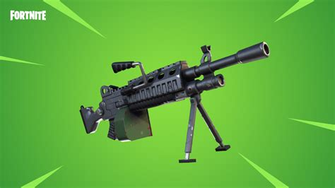 what fortnite gun are you new fortnite lmg out now for battle royale usgamer