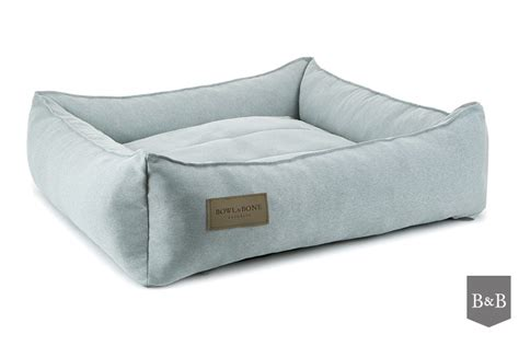 bed and bone bowl and bone urban dog bed grey luxury dog beds