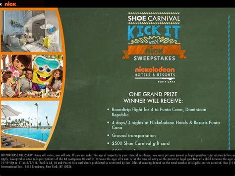 Nickelodeon Cruise Sweepstakes - shoe carnival s kick it with nick sweepstakes
