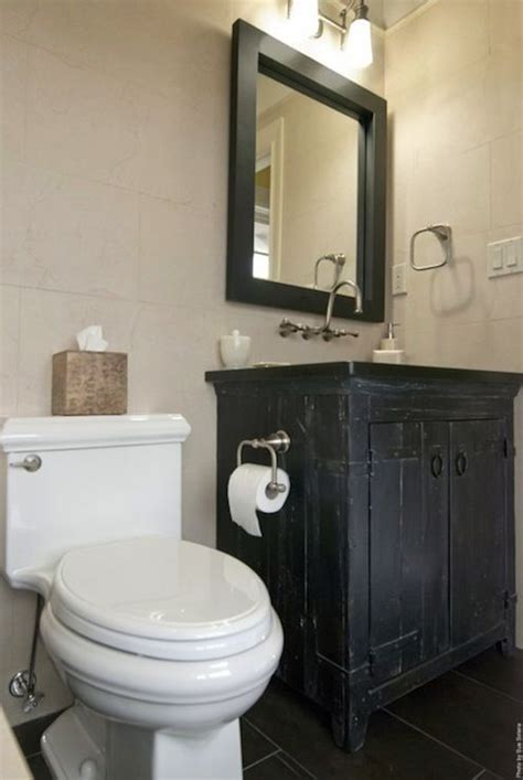 black rustic bathroom design  charcoal gray slate