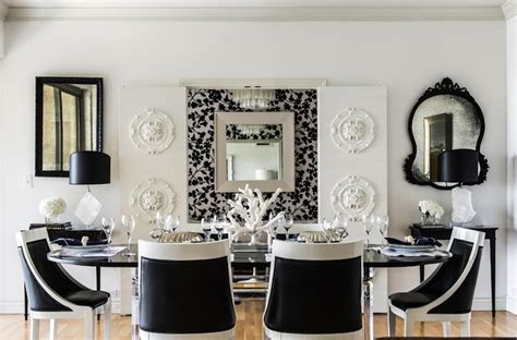 black and white room decor black and white dining room eclectic dining room
