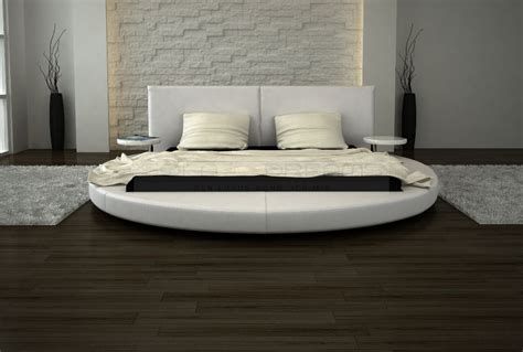 sofa betten rundbett design roma mit nachttischen polsterbett ebay