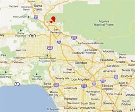 map of california los angeles area eq m 4 3 greater los angeles area california page 1