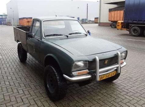 peugeot 504 pickup dangel 4 215 4 conversion 1980 peugeot 504 pick up bring a