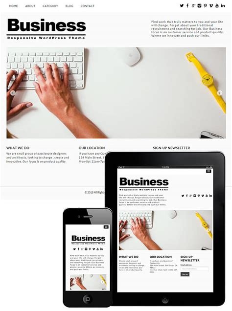 newsletter wordpress template image collections