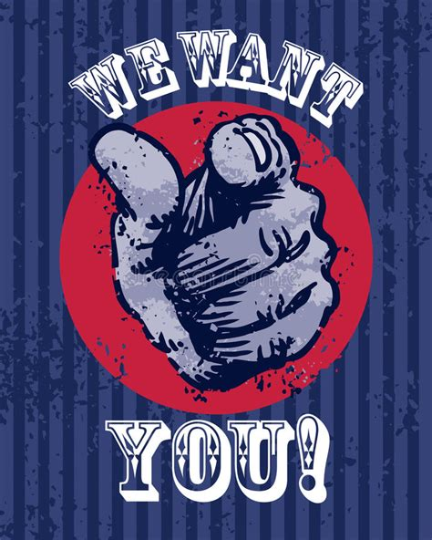 Plakat We Want You by We Want You Poster Stock Photography Image 28198382