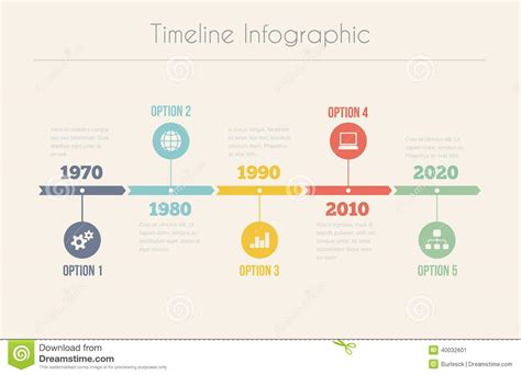 graphic timeline template retro timeline infographic stock vector image 40032601