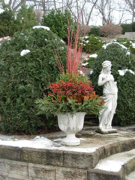 images of outdoor christmas urns 441 best images about winter planters containers on