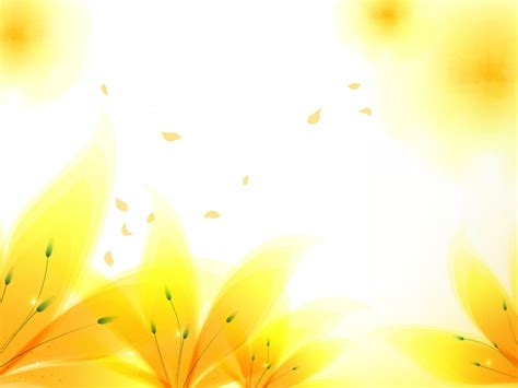 Fresh Yellow Flowers Backgrounds Flowers Yellow Templates Free Ppt Backgrounds And Flower Powerpoint Templates