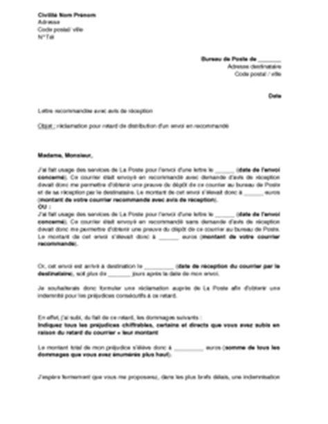 Présentation De Lettre Recommandée Modele Lettre Recommandee