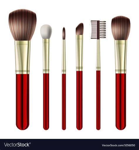 Set Of 14 Make Up Brush set of makeup brushes royalty free vector image