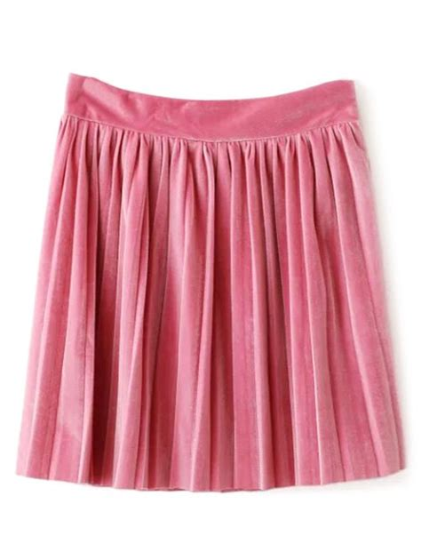 light pink pleated skirt velour pleated mini skirt in light pink l sammydress com