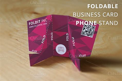 foldable business card template foldable business card phone stand business card