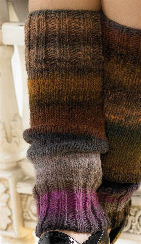 leg warmers knitting pattern 8 ply leg warmers in noro kureyon knitting patterns loveknitting