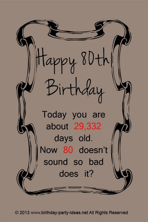 80th Birthday Quotes 80th Birthday Party Ideas Party Birthday Decoration