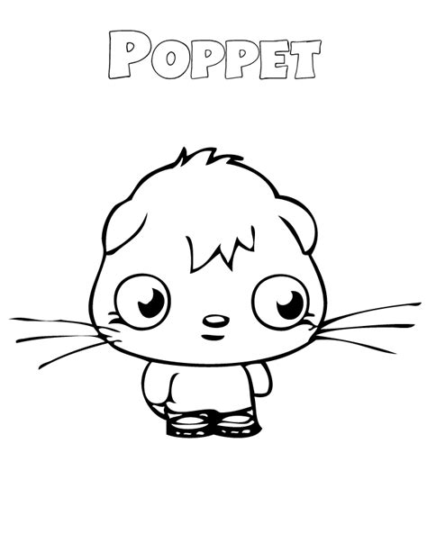 moshi monsters coloring pages poppet moshi monsters poppet coloring page h m coloring pages