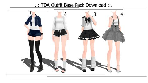 TDA Outfit Base Pack (2016/12/04  Updated) by MMD Aries on DeviantArt