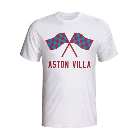 villa t shirt aston villa waving flags t shirt white tshirtwhite