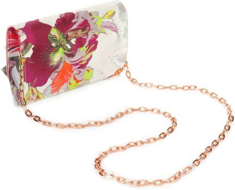 Small Bag Kinata Sowa ted baker sowa orchid bow clutch bag in multicolor pink lyst