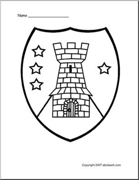 coloring pages knights shields 17 best images about fairy tale themed classroom on