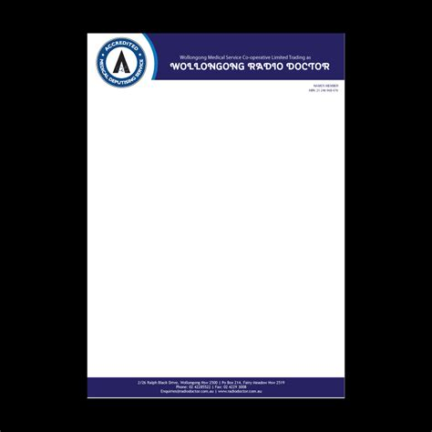 doctor letterhead template letterhead design for wollongong radio doctor by yas media