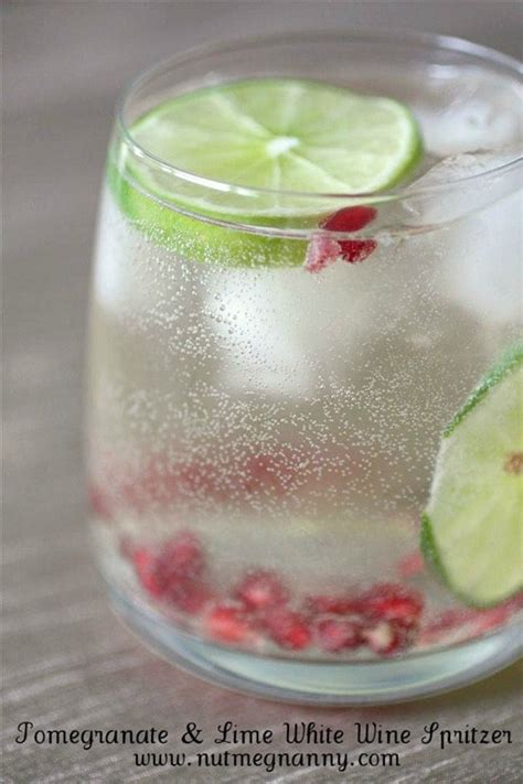 Happy Hour Pomtea Spritzer by A Sip Of Style Happy Hour Pomegranate And Lime White
