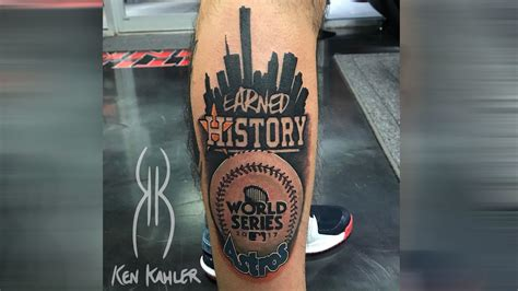 houston astros tattoo astros player looking for fans with world series tattoos