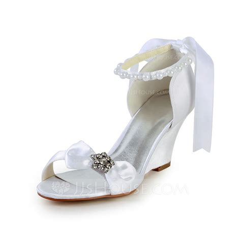 wedge wedding sandals s satin wedge heel sandals wedges with bowknot