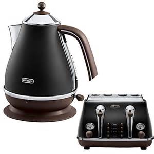 delonghi icona kettle and 4 slice toaster black