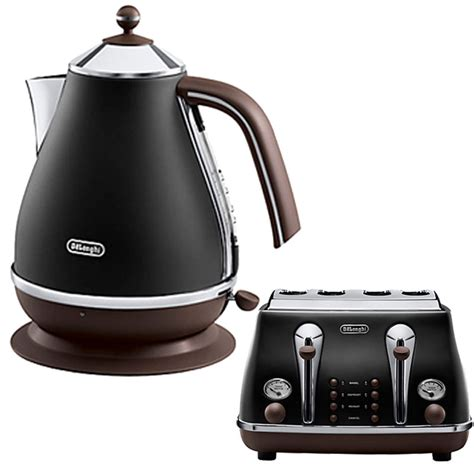Delonghi Black Kettle And Toaster delonghi icona kettle and 4 slice toaster black