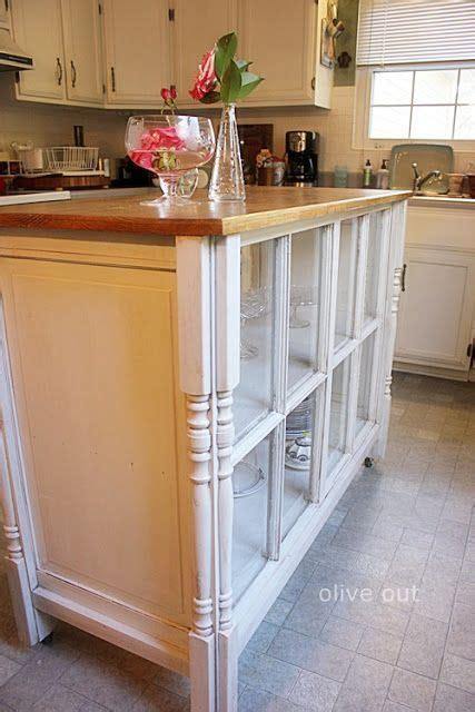 Kitchen Island Buffet Recycled Windows To Kitchen Island Buffet Or Display Furniture Diy Display