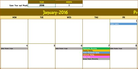monthly one to one template excel calendar template excel calendar 2018 2019 or any year