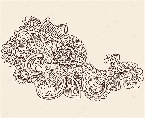 henna mehndi tattoo doodles vector design elements stock