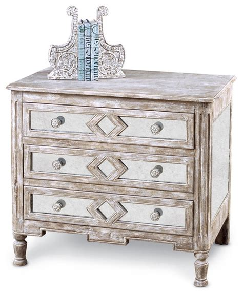 Bedside Tables And Dressers Calais Country Antique Mirror Bedside Chest