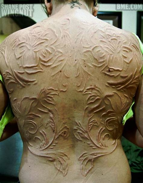 post tattoo process full scarification back project friggen love done