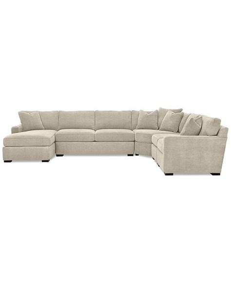 furniture radley 5 fabric chaise sectional sofa
